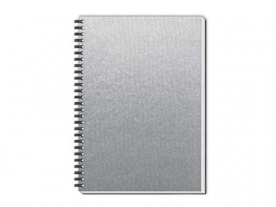 caderno percalux grande prata