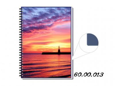 Caderno personalizado azul