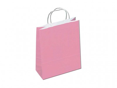 Sacola colorida rosa
