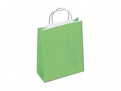 Sacola colorida verde